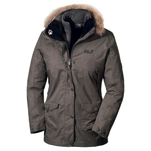 Womens Wave Hill Parka 3 in 1 Jacket by Jack Wolfskin   For